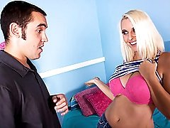 Blond Mommy MILF Fucks College Step-Son