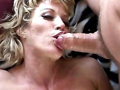 Big breasted milf gets some cream