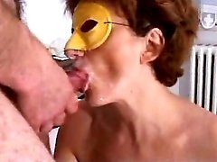 Masked housewife tries out anal sex