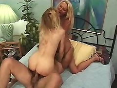 Two blonde matures have oral and hard fuck in orgy