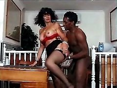Busty mom get black sausage in cunt