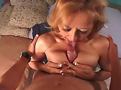 Old lewd mature has hot oral sex and gets titsfuck