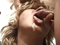 Chubby granny has fuck in orgy n gets cum in mouth