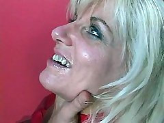 Lewd blond mom gets hard young dick in her ass