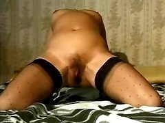Milf stuffs pussy by toys