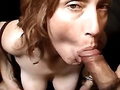 Mature drinks cum in orgy