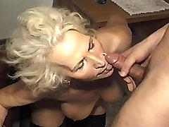 Hungry granny fucks in diff poses and gets facial