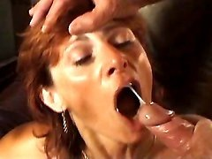 Granny gets DP and double cumload